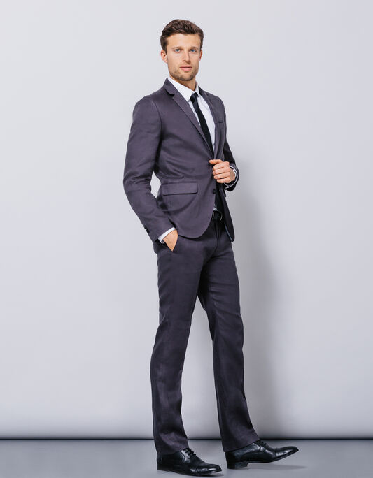Costume homme en lin gris