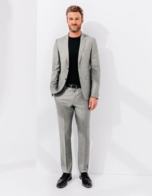 Costume homme veste costume pantalon costume brice - Costume homme gris clair ...