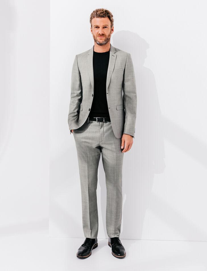 Costume slim laine gris clair