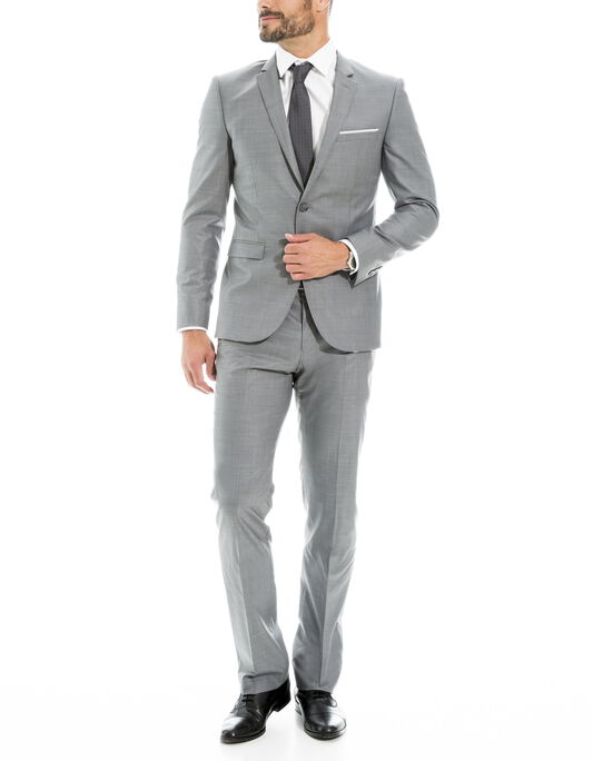 Costume gris clair, coupe regular