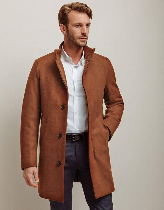 Manteau homme long à boutons
