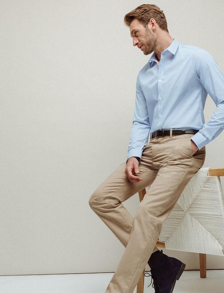 Chemise homme slim à motifs