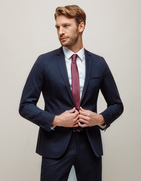Veste costume homme matière technique