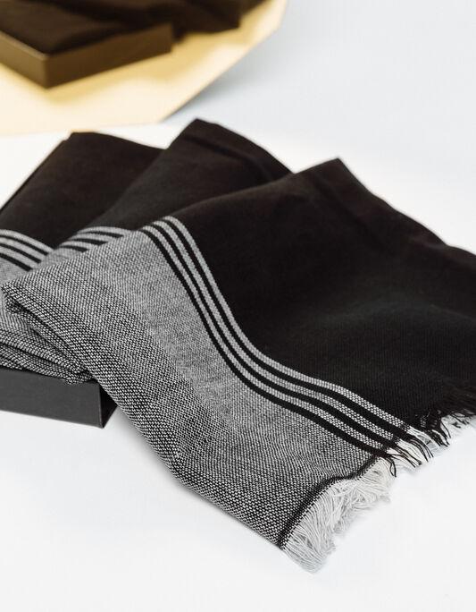 Coffret chèche gris et noir