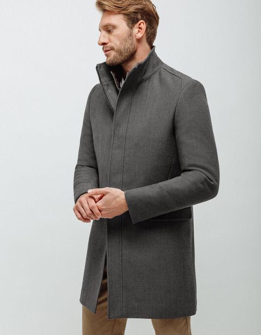 Manteau homme long avec parmenture