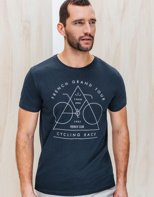 Tee shirt homme imprimé vélo