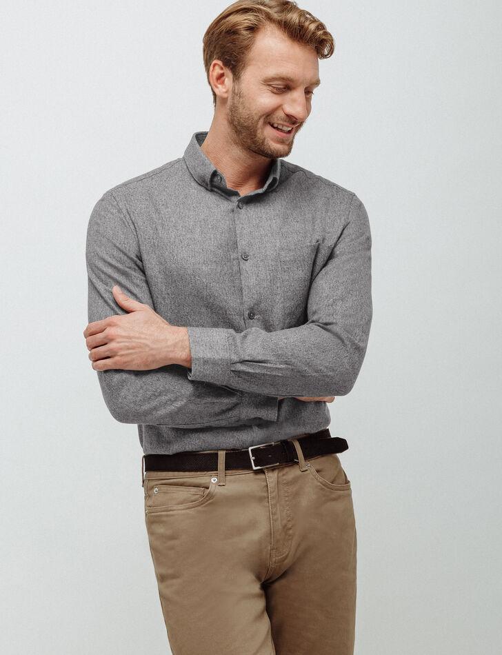chemise homme regular en flanelle brice. Black Bedroom Furniture Sets. Home Design Ideas