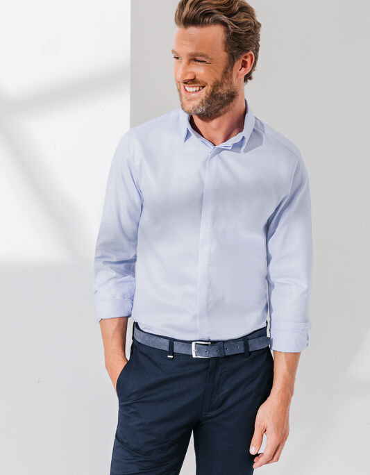 Chemise coton double retors Slim fit
