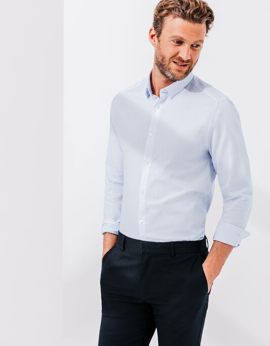 Chemise homme manche longue oxford coupe slim