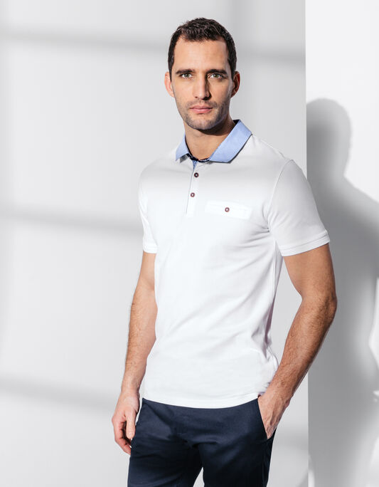 Polo homme col chemise