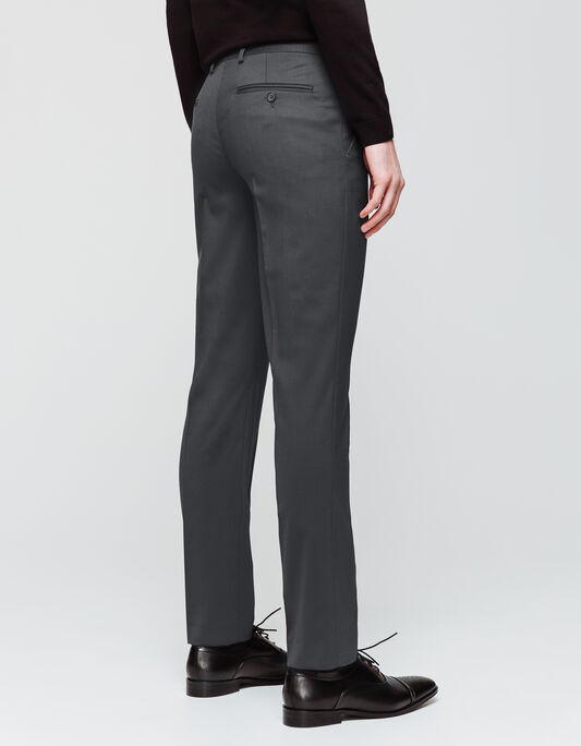 Pantalon de costume regular laine majoritaire