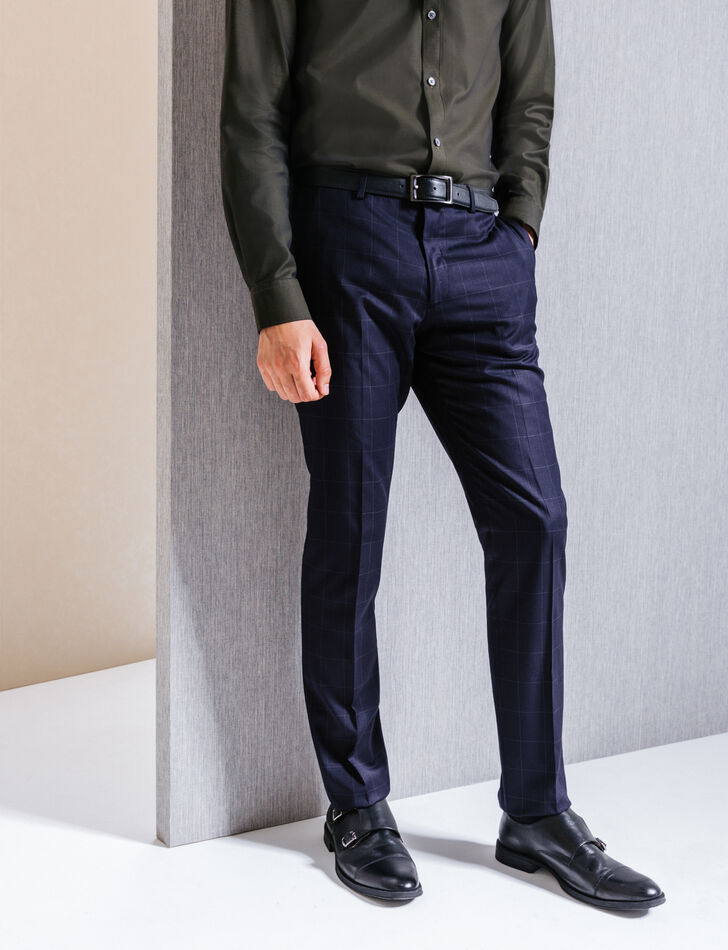 Pantalon de costume homme bleu marine