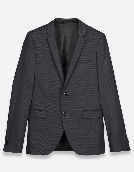Veste costume homme slim motifs jacquard
