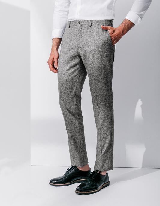 Pantalon costume homme slim gris fantaisie