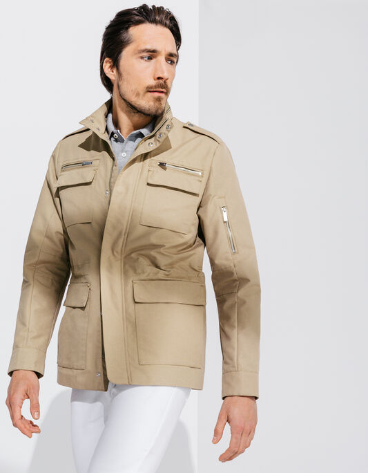 Parka beige multipoches