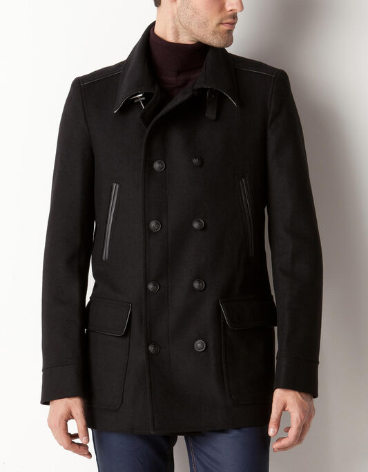 Manteau lainage double boutonnage