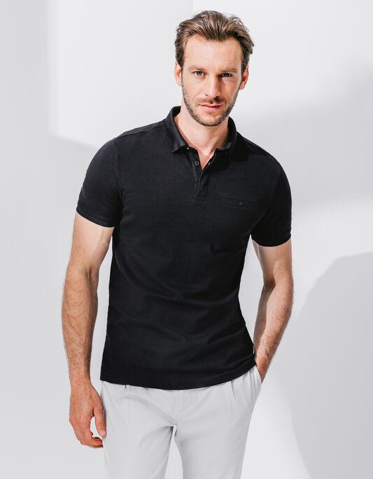 Polo homme manche courte coton poche poitrine