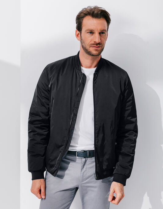 Blouson homme polyester col teddy