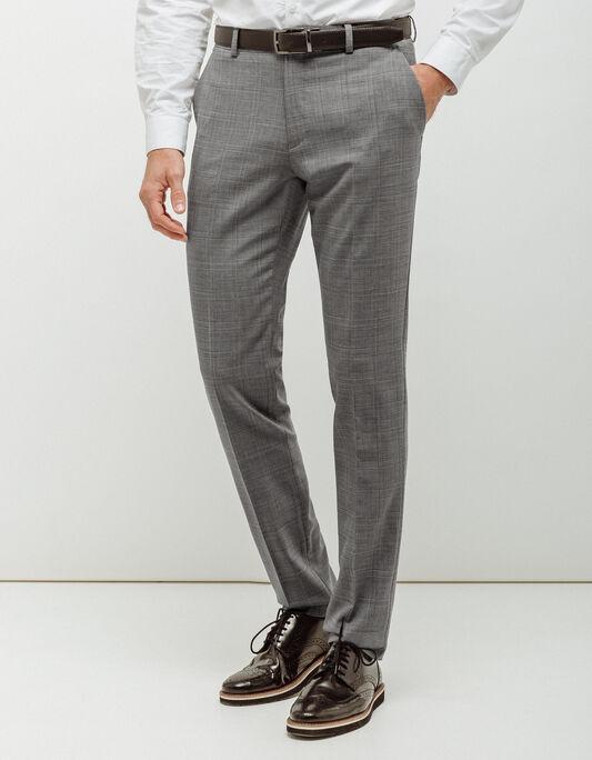 Pantalon costume homme fantaisie à carreaux