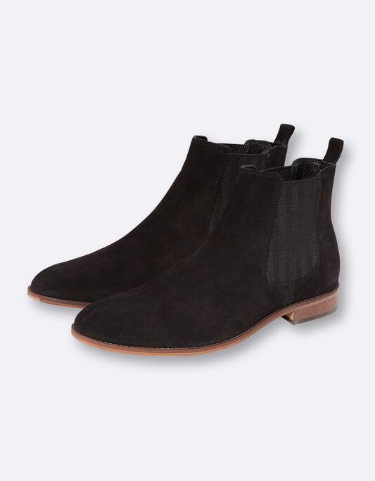 Boots homme en cuir suédé