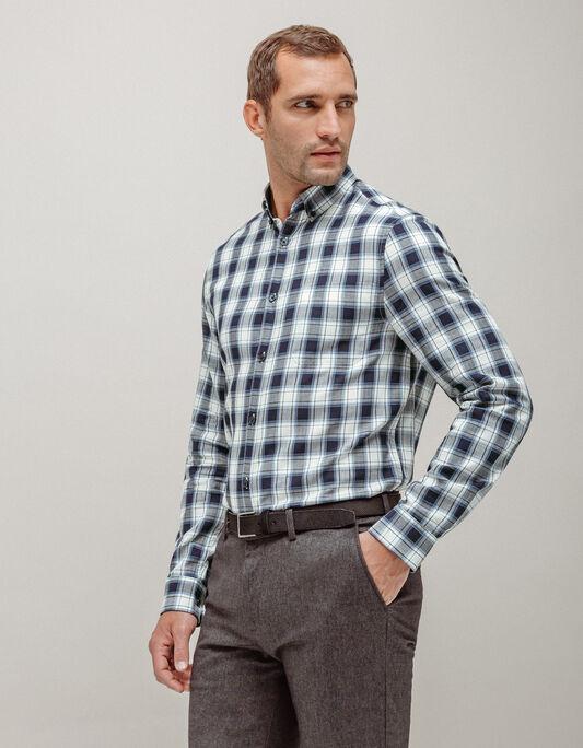 Chemise homme regular à carreaux