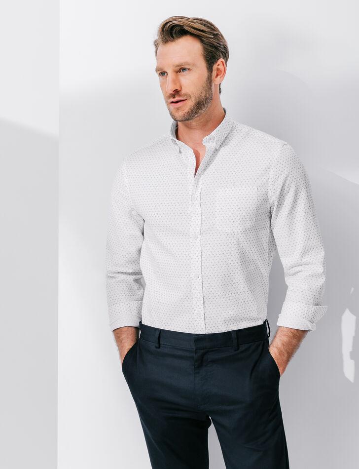 chemise homme oxford coton imprim coupe regular brice. Black Bedroom Furniture Sets. Home Design Ideas
