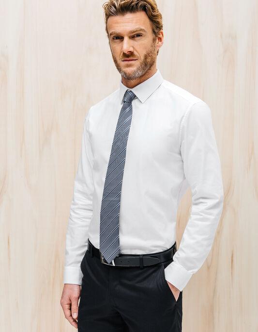 Cravate 7,5cm soie rayure diagonale