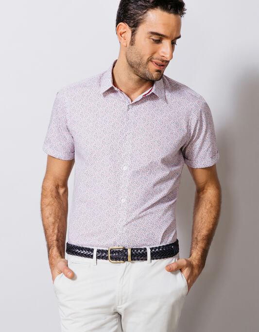 chemise coton à fleurs slim fit