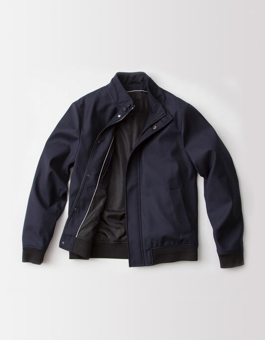 Blouson homme polyester col montant