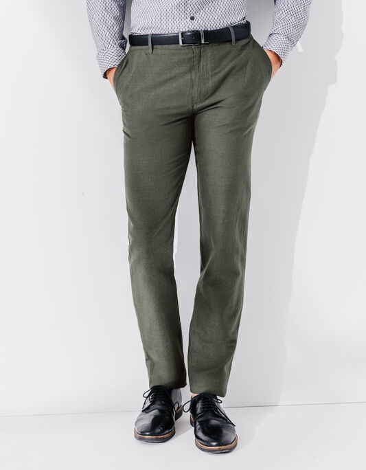 Pantalon homme lin regular zippé