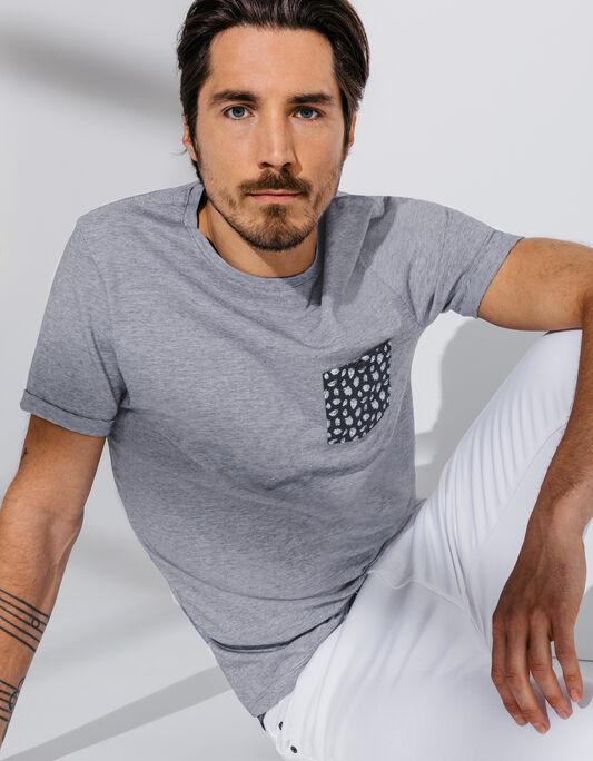 Tee Shirt Homme Poche printée