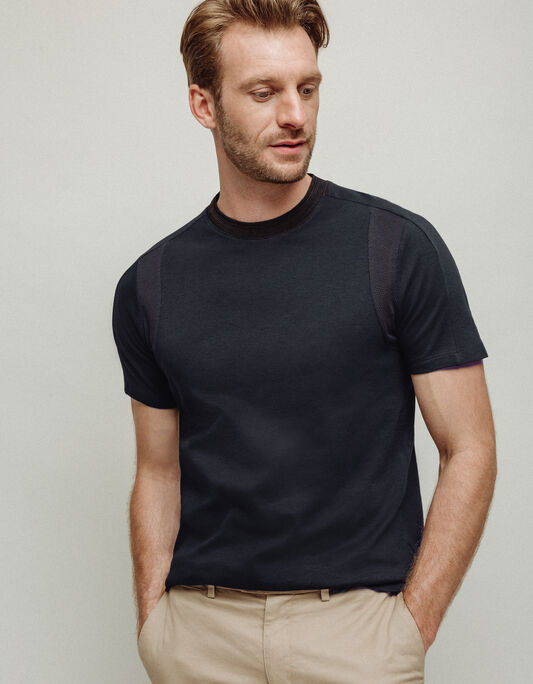 Tee-shirt homme col rond stretch coton