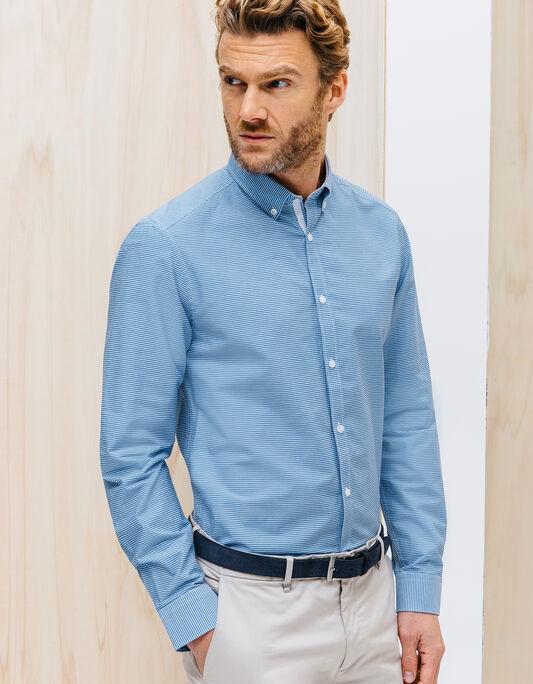 Chemise en coton rayure Coupe droite