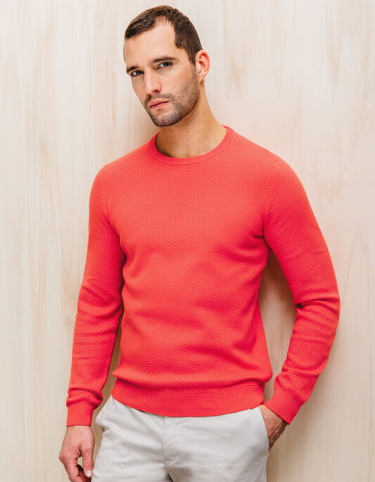 PULL COL ROND MAILLE ALVEOLEE