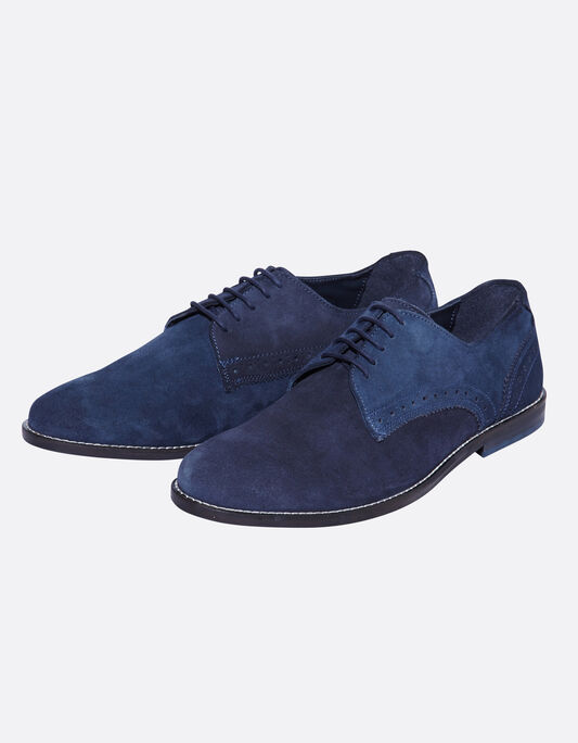 Chaussures homme derbies suédine