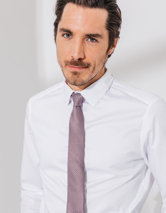 Cravate 6,5cm polyester  à motif