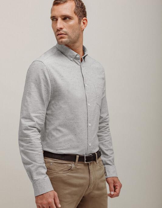 Chemise homme slim chinée fantaisie