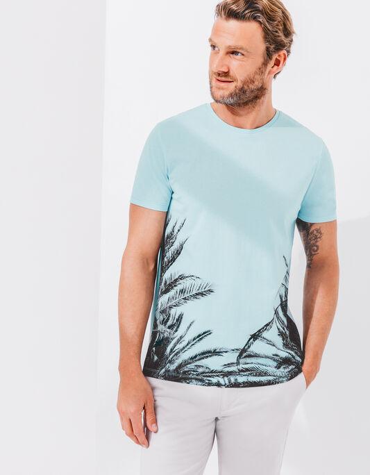 Tee shirt imprimé palmier