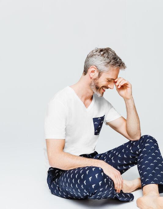 Pyjama Homme Col V manches courtes