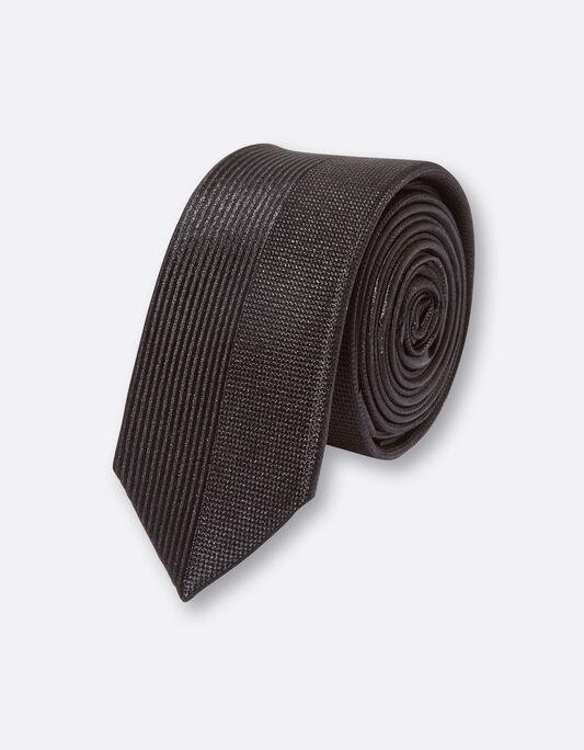 Cravate slim soie fantaisie tissage
