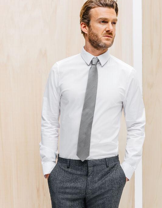 Cravate 6,5cm soie effet granite