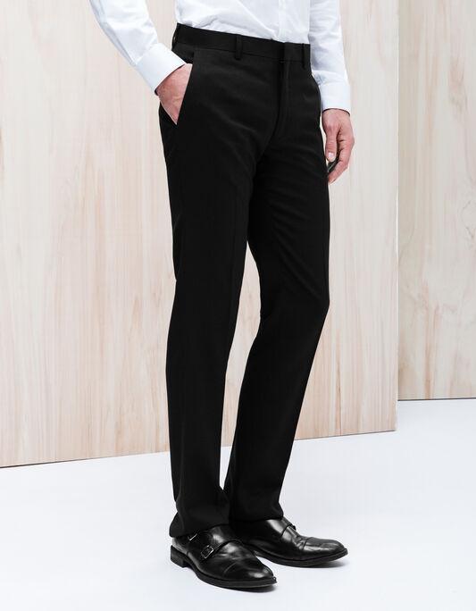 Pantalon costume homme straight effet natté