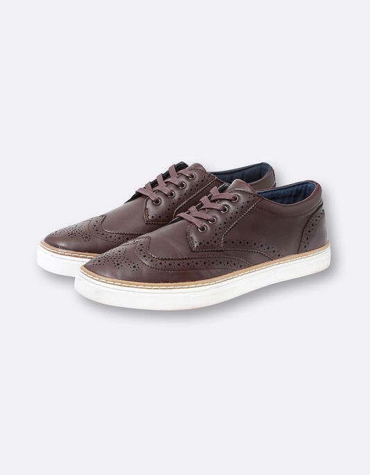 Baskets homme bordeaux