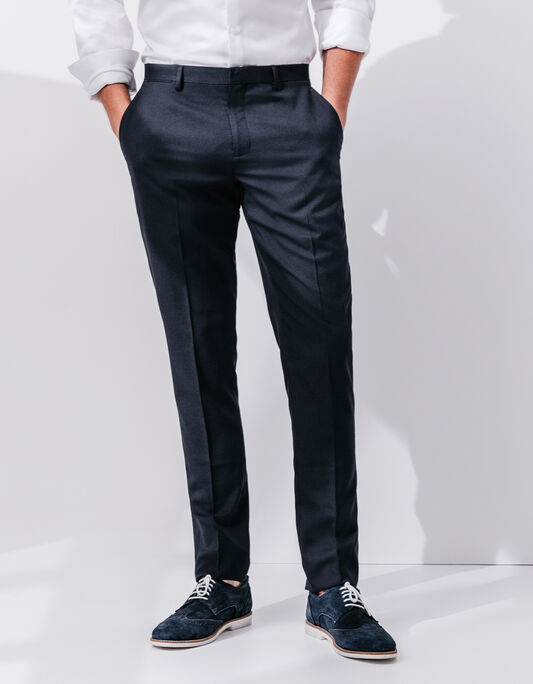 Pantalon costume homme coupe slim fantaisie
