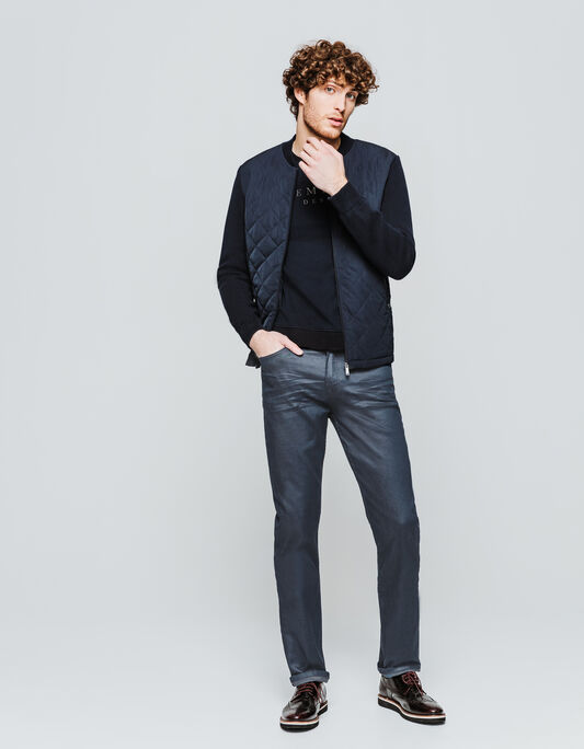 Jeans enduit regular