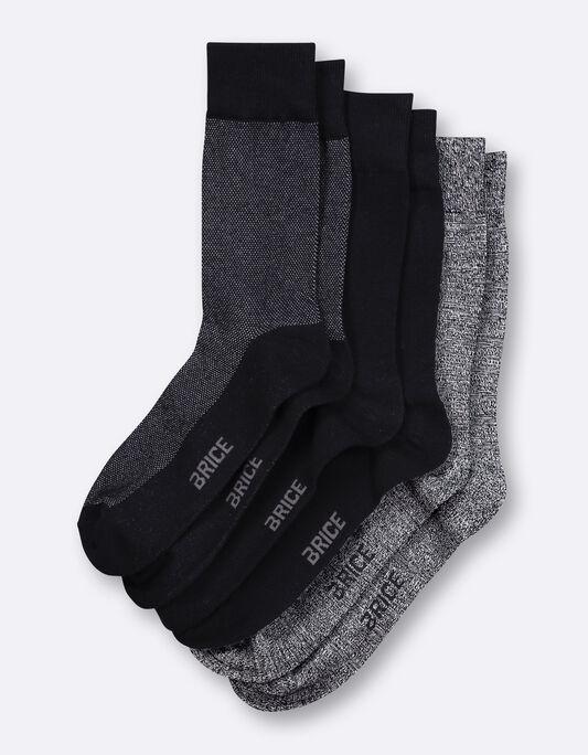 Chaussettes homme en coton avec micro fantaisie pa