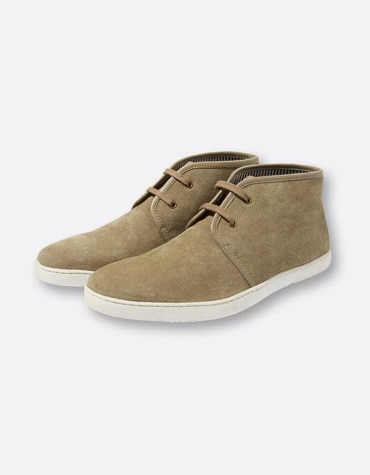 Chaussures homme montantes suédine