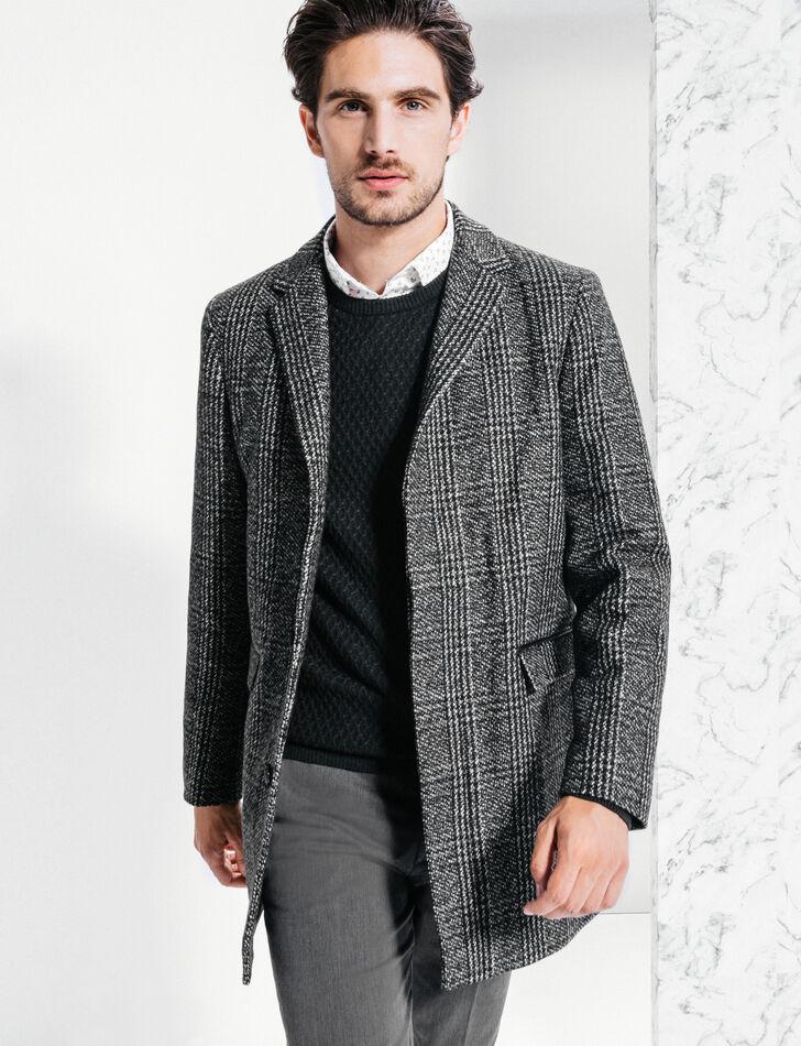 Manteau homme en laine