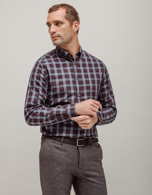 Chemise homme slim à carreaux
