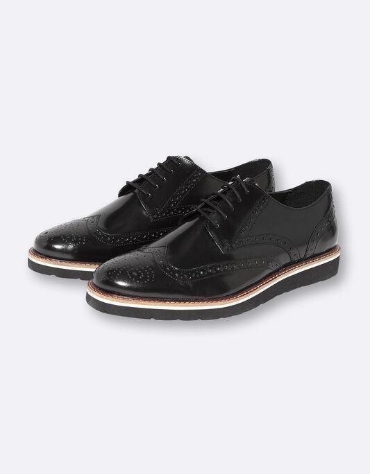 Chaussures homme en cuir vernis fleuries